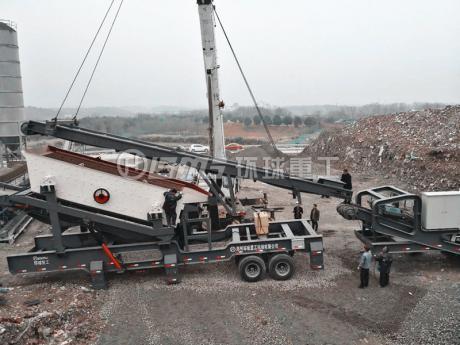 建筑垃圾破碎处理生产线江su南京搭建完bi