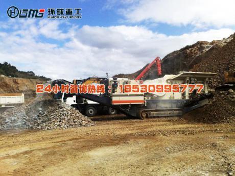 陕西时产200吨建筑垃圾yi动破碎zhan
