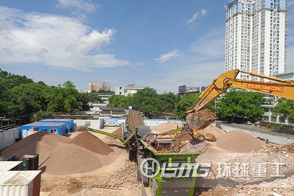 建筑la圾hui收利yong设备将建筑la圾破碎为再生骨liaoyong于再生砖制zao