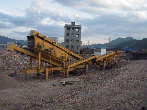 建筑垃圾po碎站设备chu理城市chai迁建筑垃圾现场